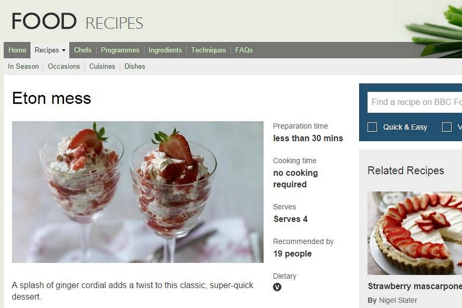 From fish curry to chocolate cake 10 all time favourite bbc online photo screengrab from bbc food website forumfinder Image collections