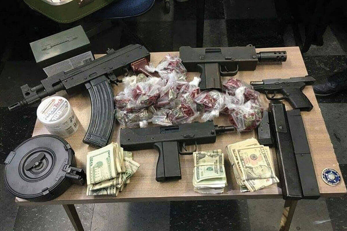 Loot recovered in a raid.
