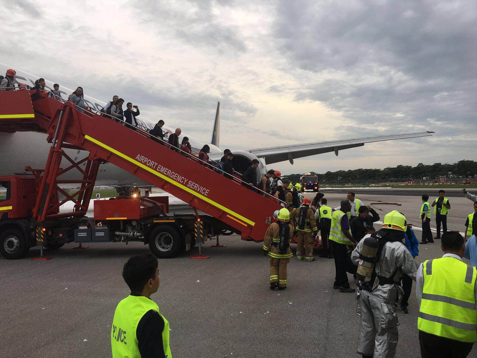 Singapore Airlines Plane Catches Fire at Singapore