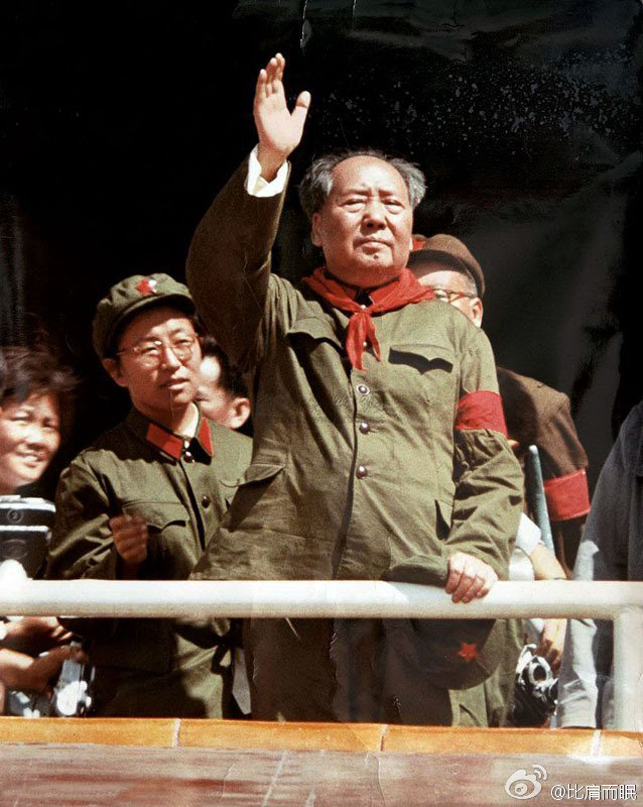 Mao Zedong meeting the Red Guards at a rally during the Cultural Revolution.  PHOTO: SINA WEIBO