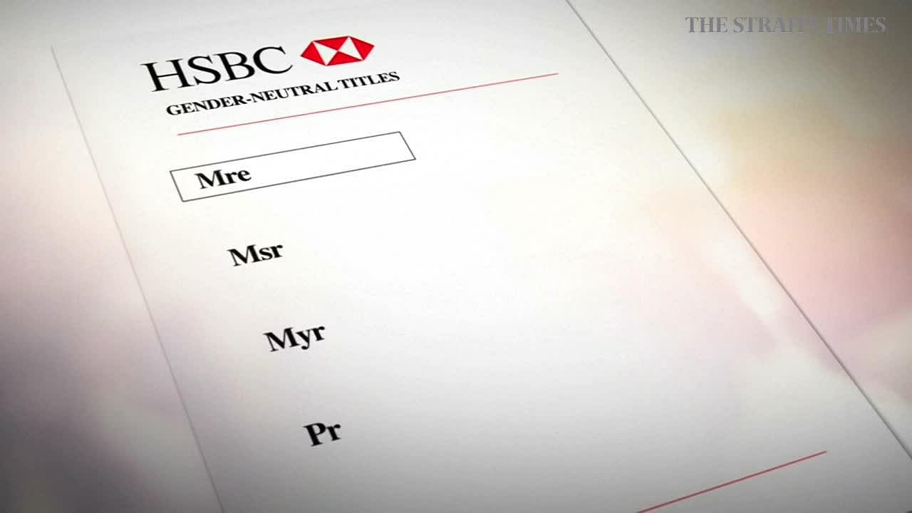 HSBC introduces choice of titles for transgender customers