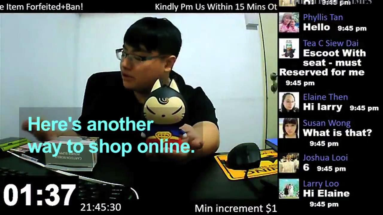 Live Online Auctions Inject Life Into Retail Singapore News Top Stories The Straits Times