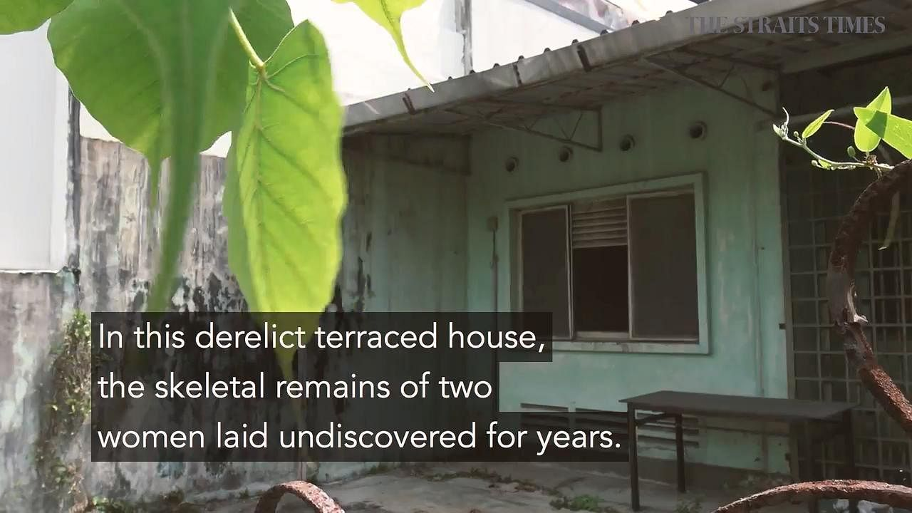 Abandoned house in Upper Thomson where skeletal remains of