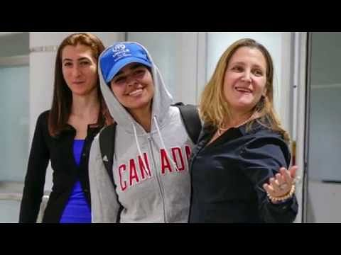 Saudi teen who fled family is welcomed as 'brave new Canadian' in Toronto