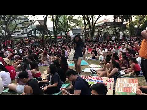 Hundreds turn up in red at Hong Lim Park for first Singapore Climate