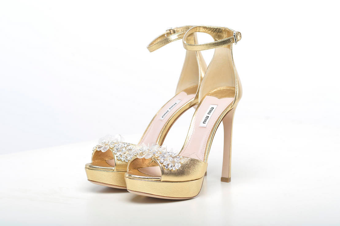 Sparkly heels: Designer shoes with