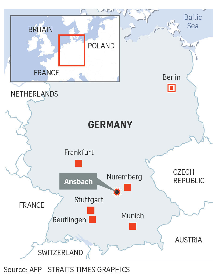 Katterbach Germany Map.Syrian Suicide Bomber Pledged Allegiance To Isis German Minister