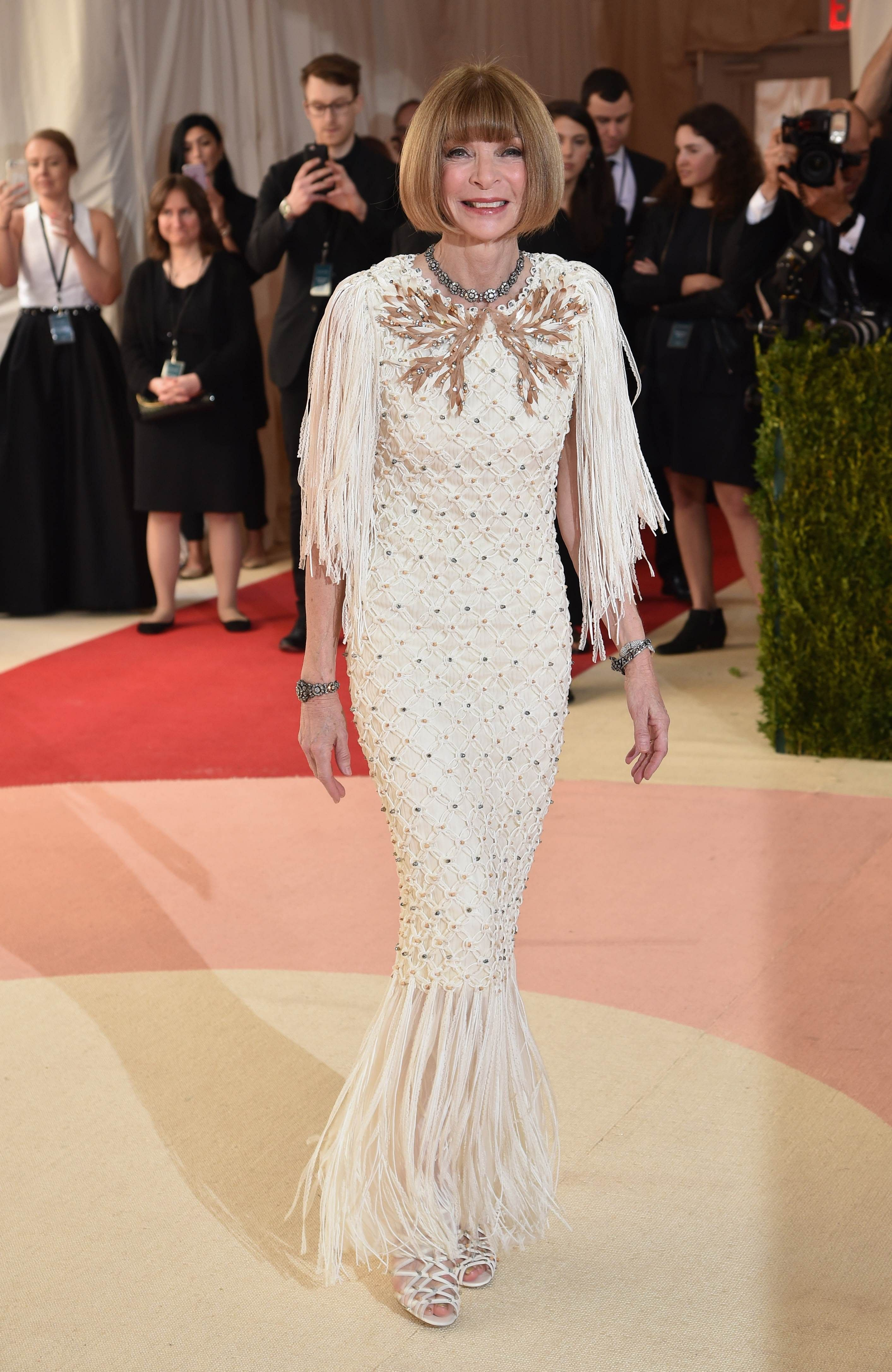cd5af8f24fc Anna Wintour attending the Manus x Machina: Fashion In An Age Of Technology  Costume Institute Gala at Metropolitan Museum of Art on May 2, 2016, ...