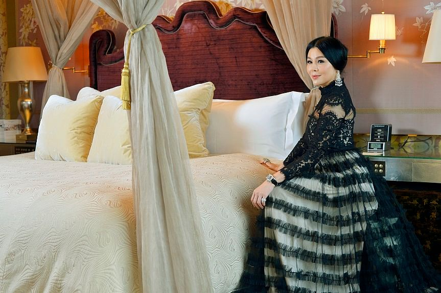 """""""This lace gown hints at sensuality and the high neckline makes it look so elegant. People tell me that I look like a princess when I wear it."""""""