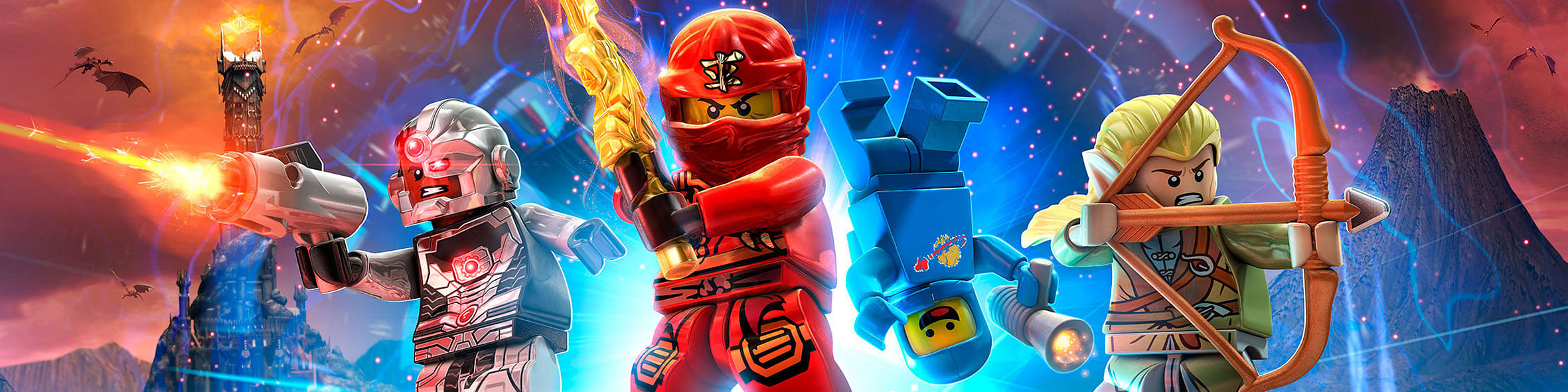 The toys used for Lego Dimensions are actual Lego pieces. Figures can be removed completely from their base plates - the components that contain all the digital information about the toys for the game.
