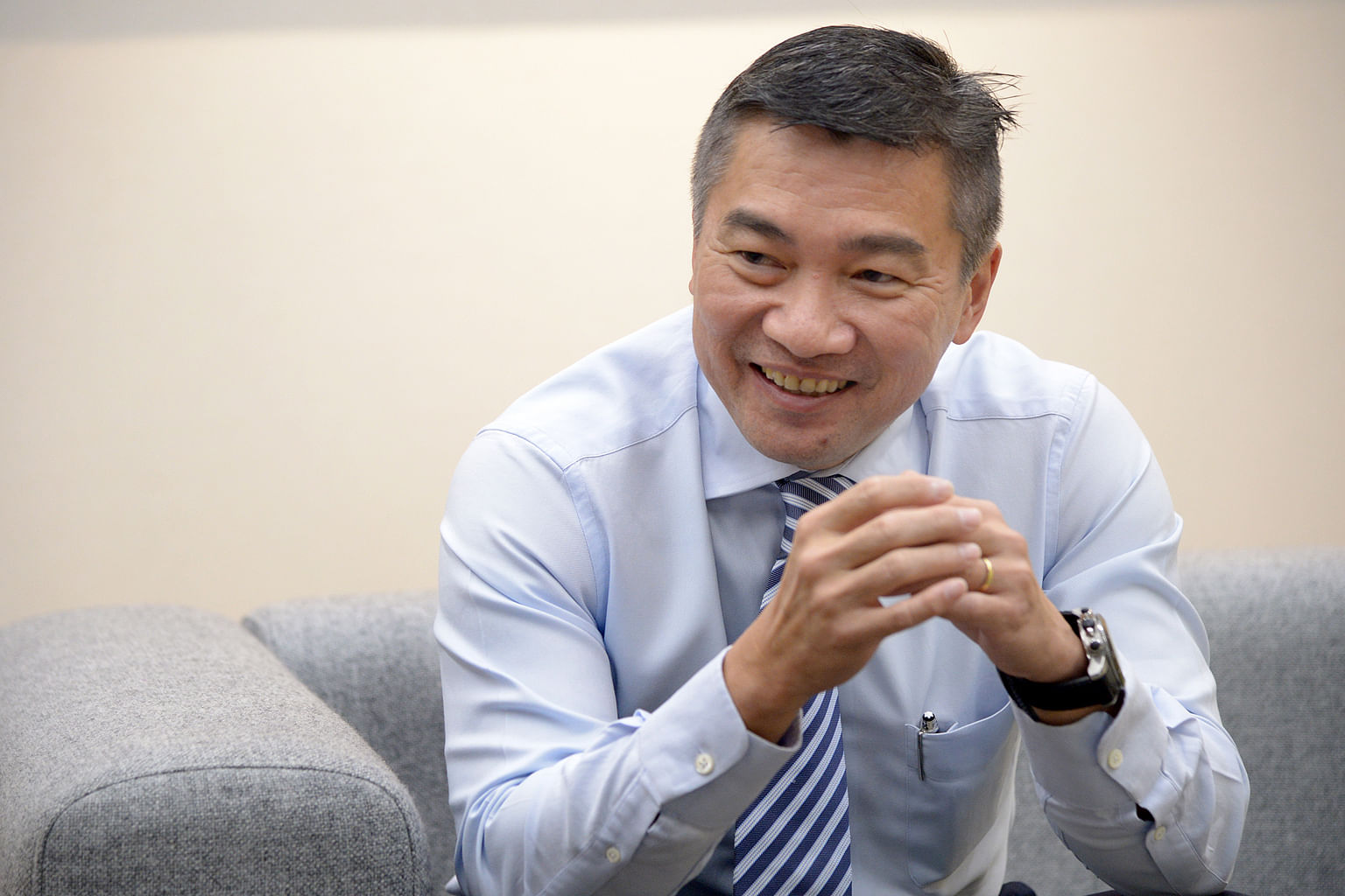 "Singapore Exchange boss Loh Boon Chye says the challenges that come with his job have arrived ""fast and furious"", but while they are tough, he feels they are not insurmountable."
