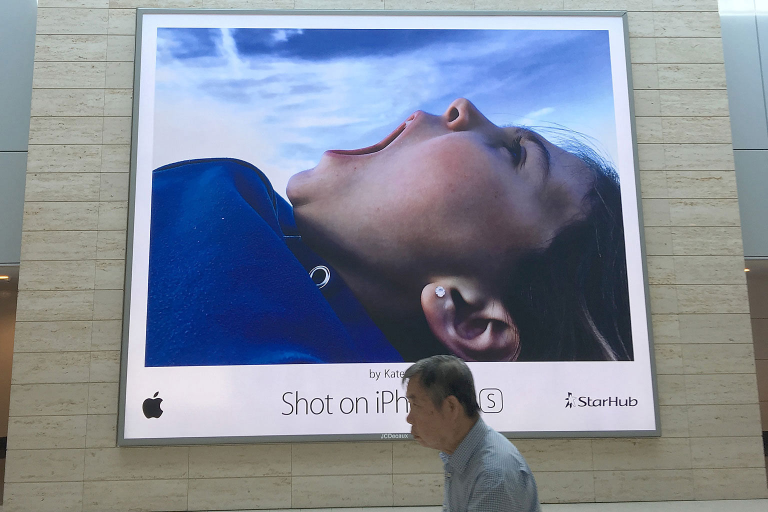 A billboard of a photo shot on an iPhone 6. While smartphones are hard to beat on convenience, cameras have the edge in photo quality.