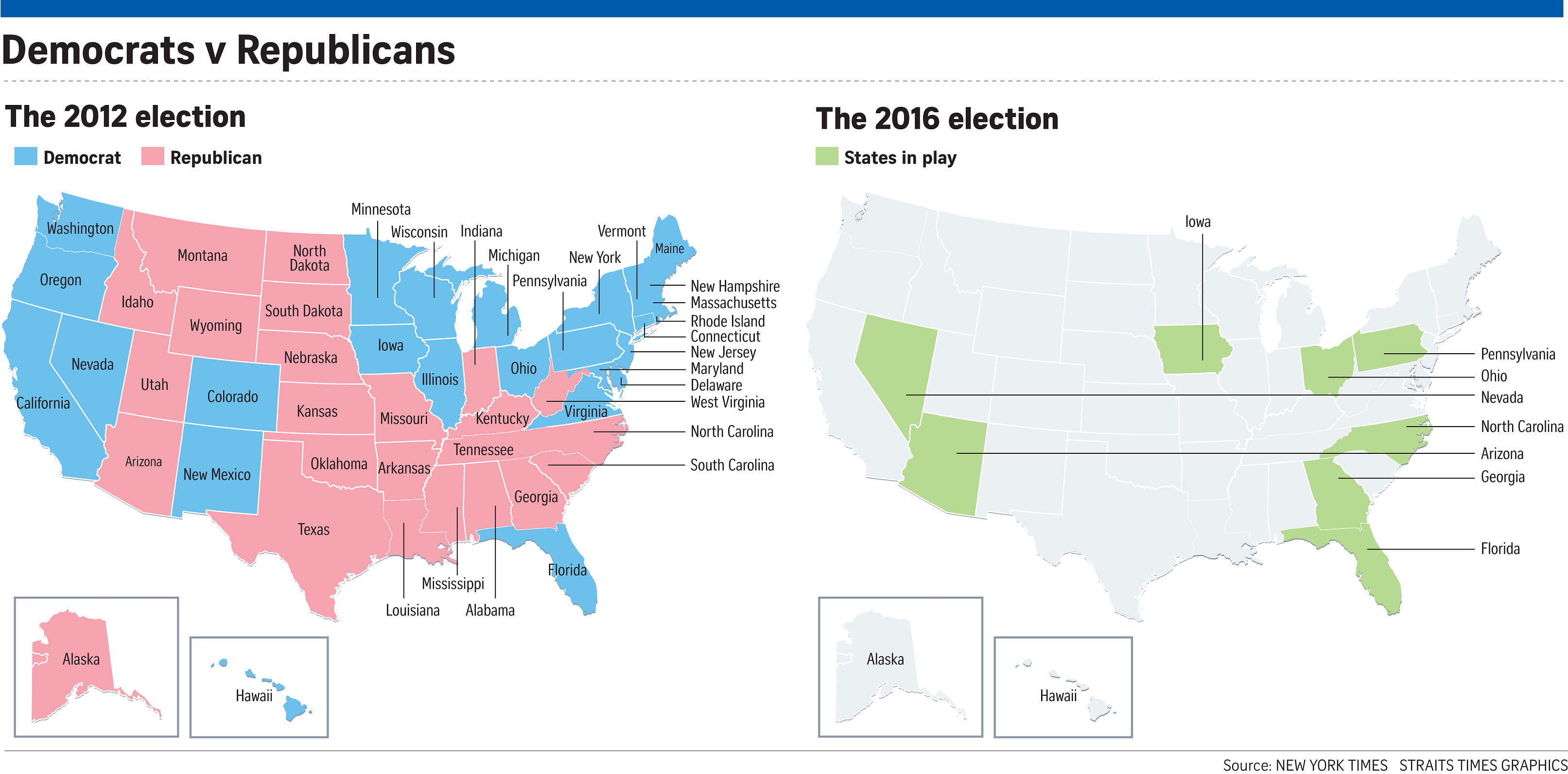 US Elections Key States To Watch United States News Top - Us map key