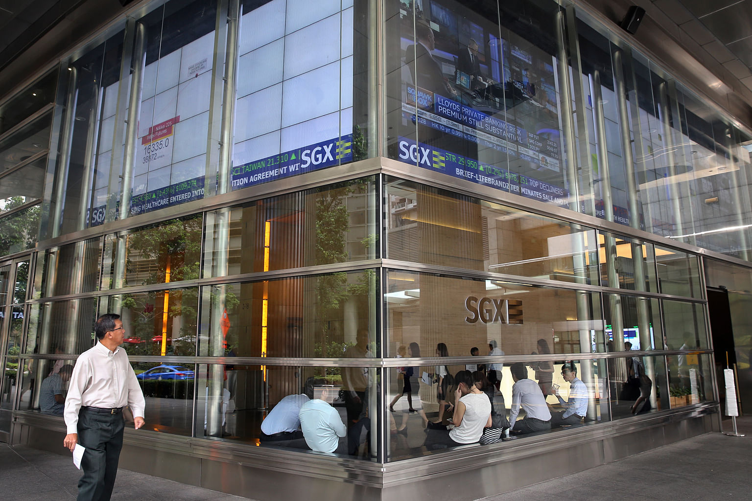 The SGX Centre in Shenton Way. Some brokers are worried about the risk of more trading disruptions when the bourse operator unveils its Post-Trade system.