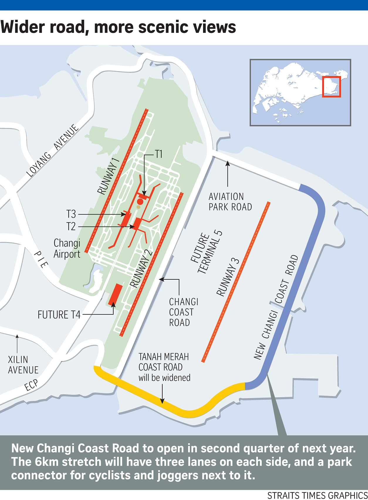 Changi Coast Road to be closed in 2017 due to airport works ...