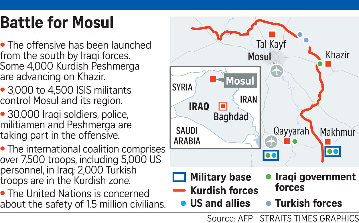 Iraq Launches Operation To Retake Mosul From Islamic State