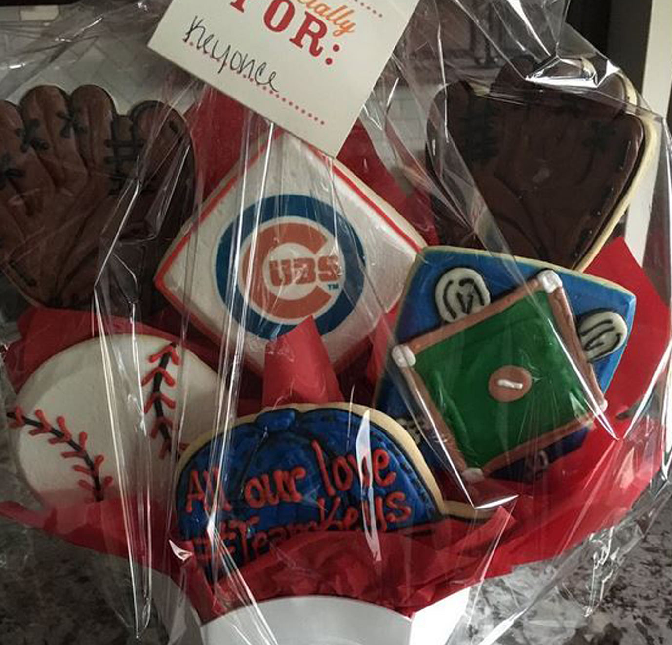 Madison Keys' team made her a hamper's worth of Chicago Cubs titbits. The Illinois native is a fan of the Major League Baseball franchise.