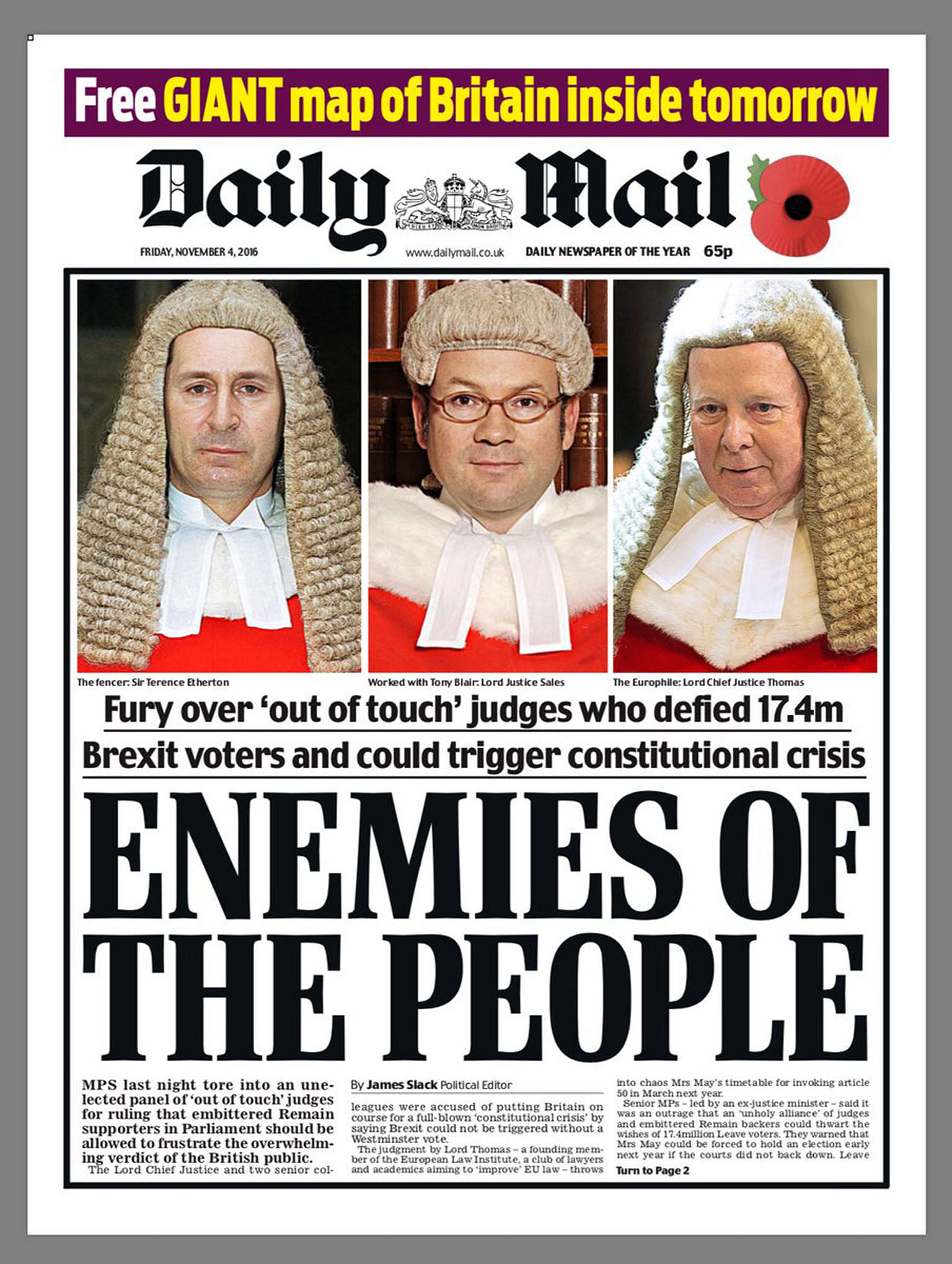 Image result for daily mail judges headline