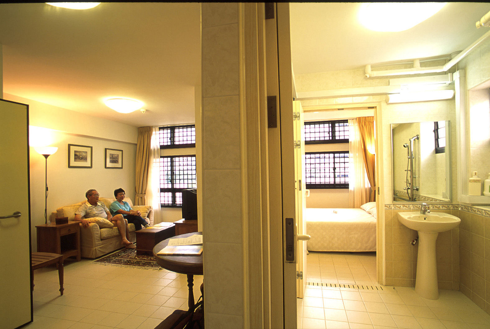 An Elderly Couple In Their HDB Studio Apartment Tampines Photo