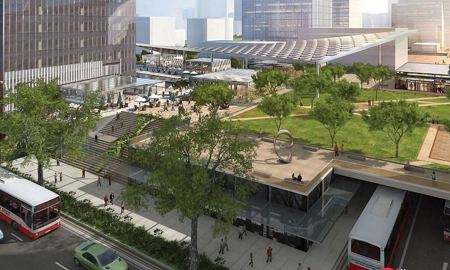 An artist's impression of the intergrated transport hub at Woodlands North Coast. Compared with its counterparts - Tampines in the Eastern belt of Singapore and Jurong East in the West - Woodlands has lagged so far in its development as a region