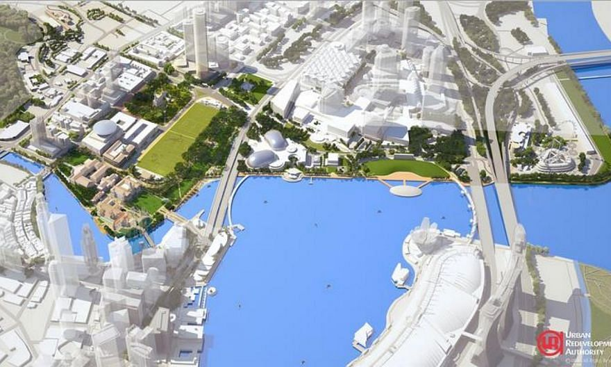 Artist impression of an aerial view of the Civic and Cultural District by the Bay.Singaporeans will soon be able to enjoy bigger and livelier public spaces, as part of the Government's bid to create a liveable and community-oriented nation. --