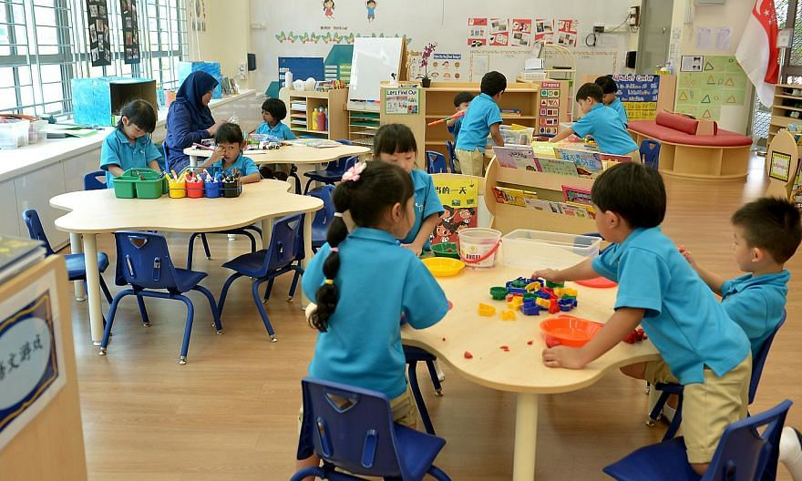 Ministry of Education kindergarten at Dazhong Primary School in Bukit Batok. -- ST FILE PHOTO: KUA CHEE SIONG