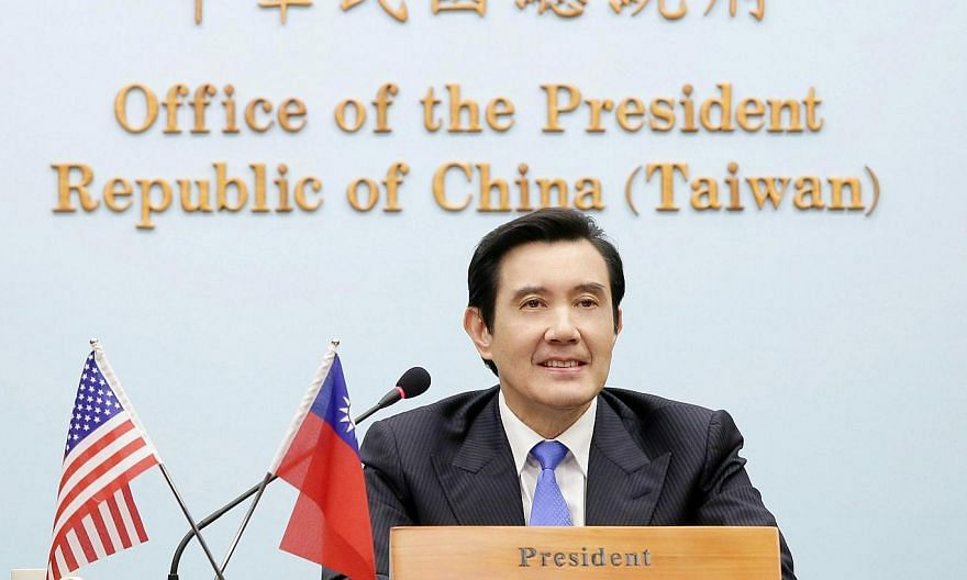 """Taiwanese President Ma Ying-jeou on Wednesday described the Tiananmen crackdown as """"an enormous historical wound"""", urging China to redress the wrongs of the crushed pro-democracy protests 25 years ago. -- PHOTO: AFP/TAIWAN PRESIDENTIAL OFFICE"""