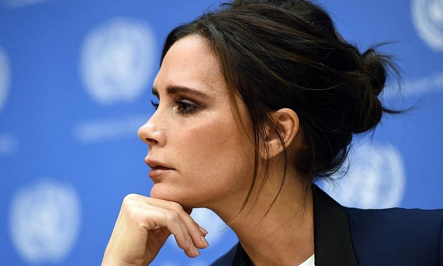 Former Spice Girl Victoria Beckham heads a list of Britain's 100 most successful entrepreneurs of 2014. -- PHOTO: AFP