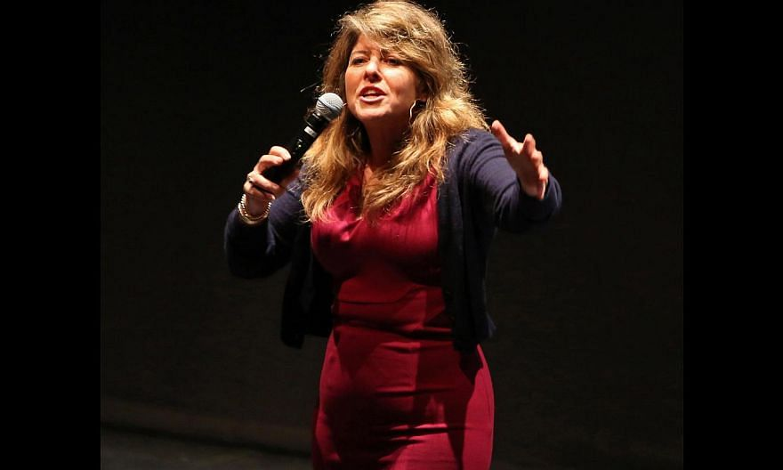 Naomi Wolf (above), author of The Beauty Myth, debunking the notion that Barbie is an evolutionary construct. -- PHOTO: EDWARD TEO FOR THE STRAITS TIMES