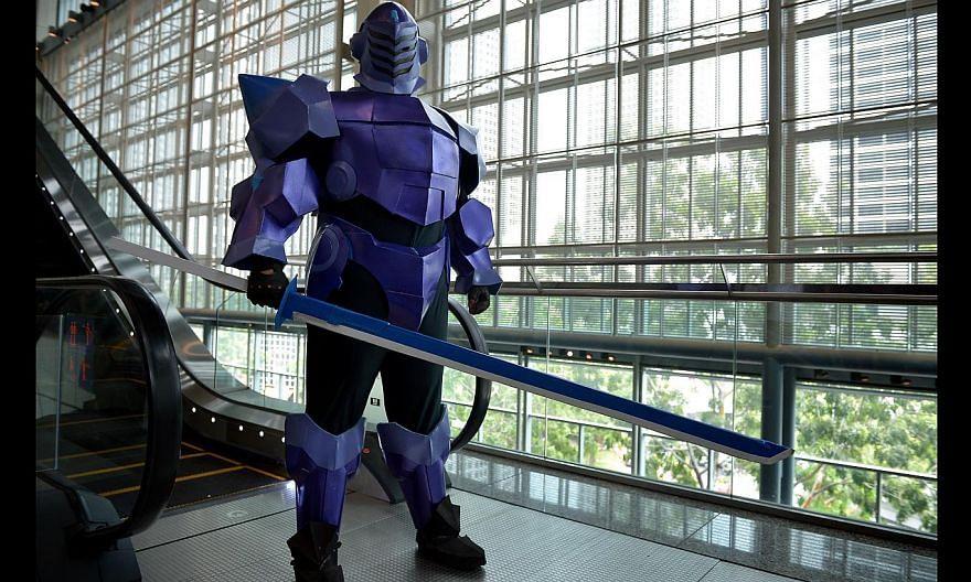 Kogin Ko as Cyan Pile from the anime Accel World.-- ST PHOTO: KUA CHEE
