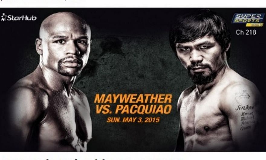 StarHub users were unable to buy access to the match between Floyd Mayweather and Manny Pacquiao on Sunday on a pay-per-view channel. -- PHOTO: STARHUB/FACEBOOK