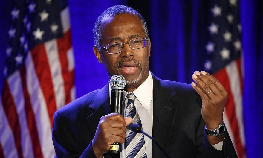 "Ben Carson speaks at a luncheon during the Republican National Committtee's ""Building on Success"" meeting in San Diego, California, in this file photo taken on Jan 15, 2015. -- PHOTO: REUTERS"