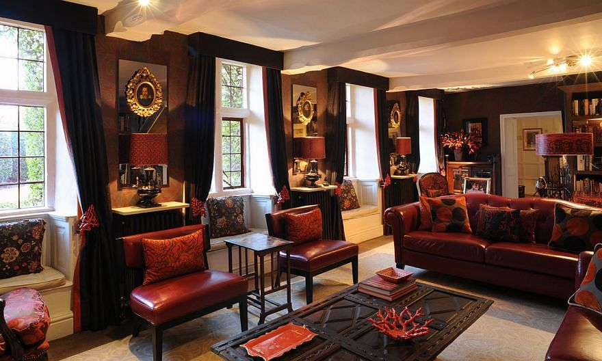 A living room (left) designed by Mr Laurence Llewelyn- Bowen. One lucky reader will win a session worth $12,000 with the celebrity British designer, a $3,000 painting package and $15,000 worth of furniture.