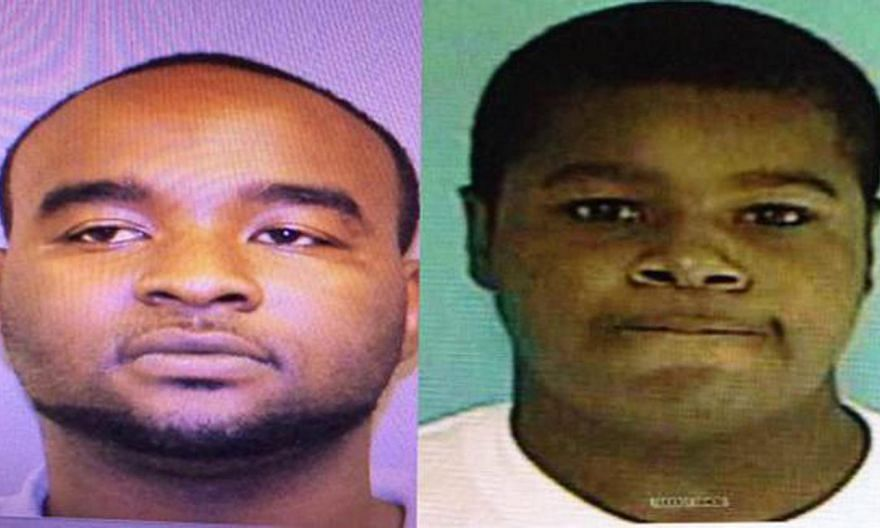 A handout combo image released by the Oxford Police Department on May 9,2015, shows Curtis Banks (left) and Marvin Banks who are being sought in connection with the murder of two police officers during a traffic stop in Hattiesburg, Mississippi