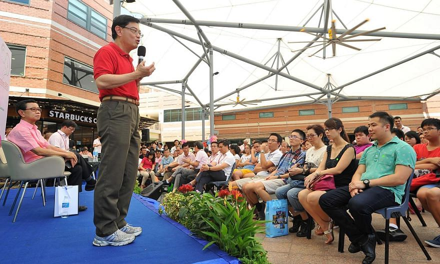 Education Minister Heng Swee Keat at a dialogue session at the Bishan Community Club. He explains the considerations behind his ministry's recent announcement of a delay to a new but yet-to-be-named junior college at the junction of Sin Ming Avenue a