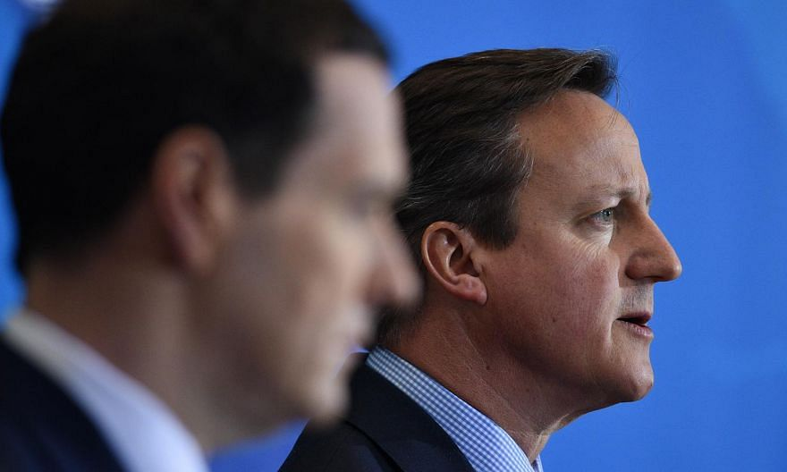 British Prime Minister David Cameron (right) is to make finance minister George Osborne (left) his lead negotiator on Europe and speed up his push to win concessions from the European Union (EU) before a planned referendum on Britain's membership of