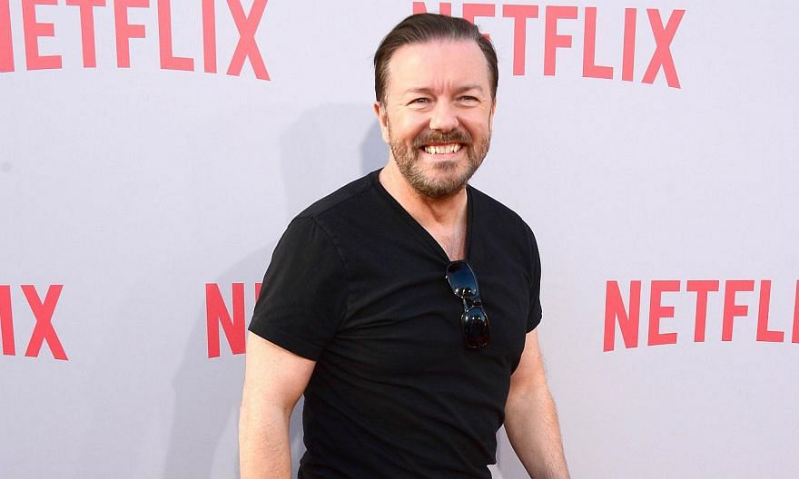 A film version of The Office with Ricky Gervais (above) and a Pablo Escobar biopic with husband-and-wife stars Javier Bardem and Penelope Cruz were among the projects landing deals at the Cannes Film Festival as it entered its second day on Thursday.