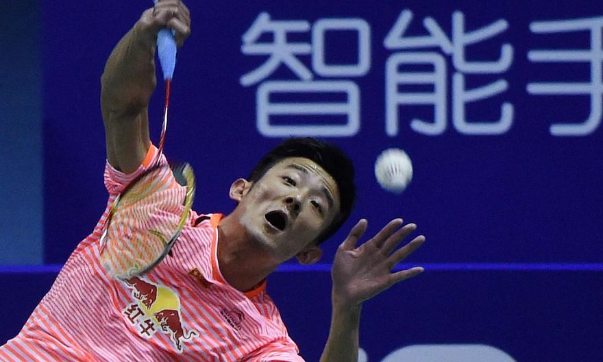 China's Chen Long hits a return against Indonesia's Jonatan Christie during their men's singles semi-final match of the 2015 Sudirman Cup on May 16, 2015. -- PHOTO: AFP