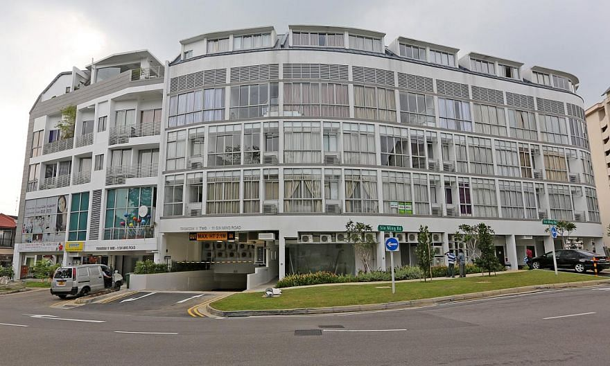 A man was found dead at the foot of a basement staircase of the Thomson V building on Sin Ming Road on Wednesday morning. -- PHOTO: ST FILE