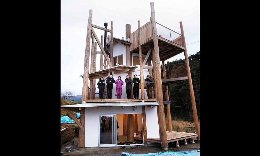 Home-For-All, a project by Japanese Pritzker prize-winning architect Toyo Ito.