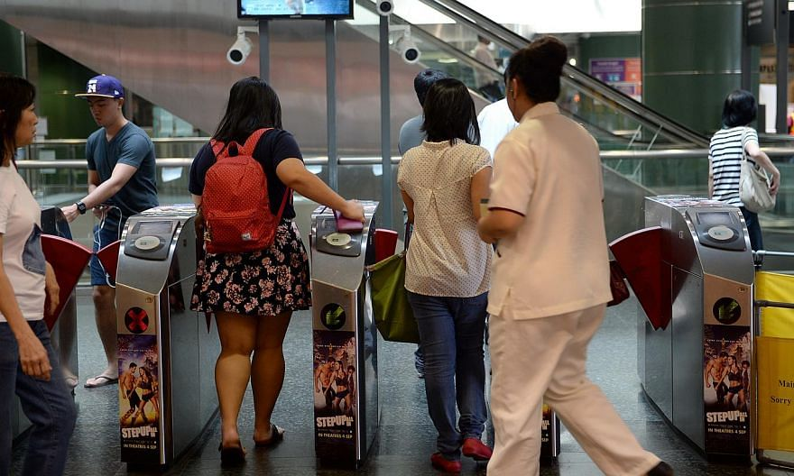Off-peak passes for public transport will be available to the public from June 28 for $80 a month. -- ST PHOTO: JOYCE FANG