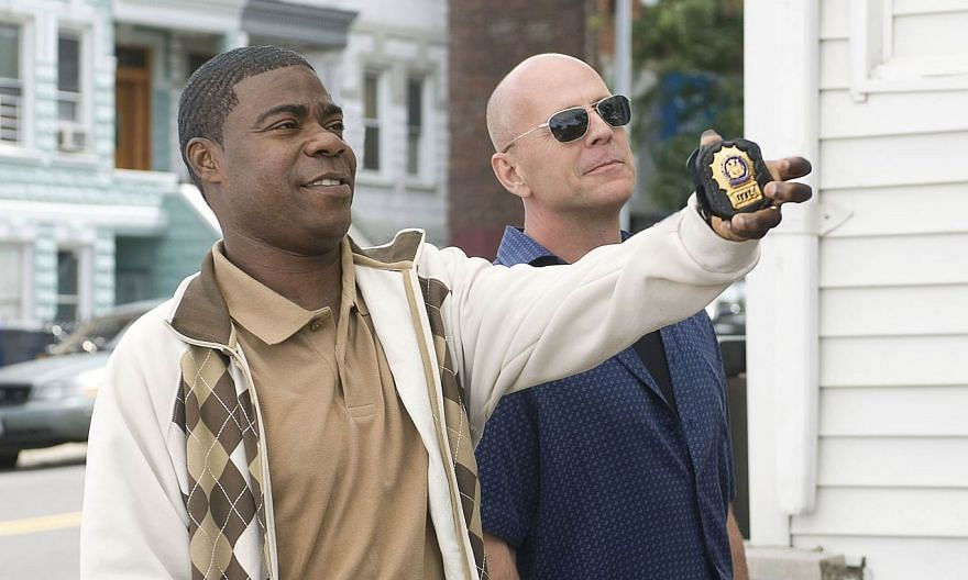 Tracy Morgan (left) performs in a scene from the movie Cop Out. The entertainer, speaking on television for the first time since being injured in a crash a year ago with a Wal-Mart truck, vowed on Monday to return to comedy but says he needed more ti