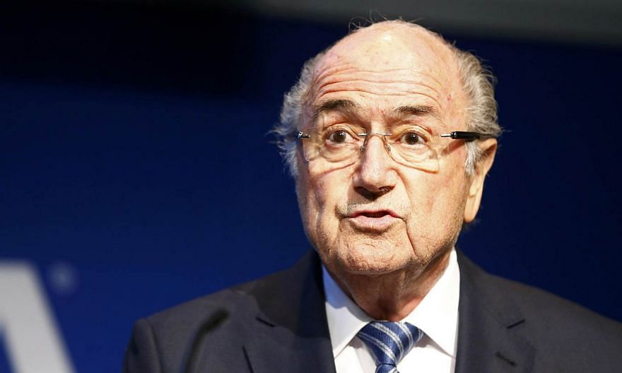 FIFA President Sepp Blatter addresses a news conference at the FIFA headquarters in Zurich, Switzerland on June 2, 2015. -- PHOTO: REUTERS