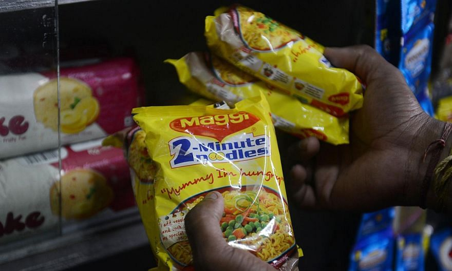 The United States Food and Drug Administration (FDA) is testing samples of a Nestle instant noodle brand that was recalled from stores across India last week. -- PHOTO: AFP