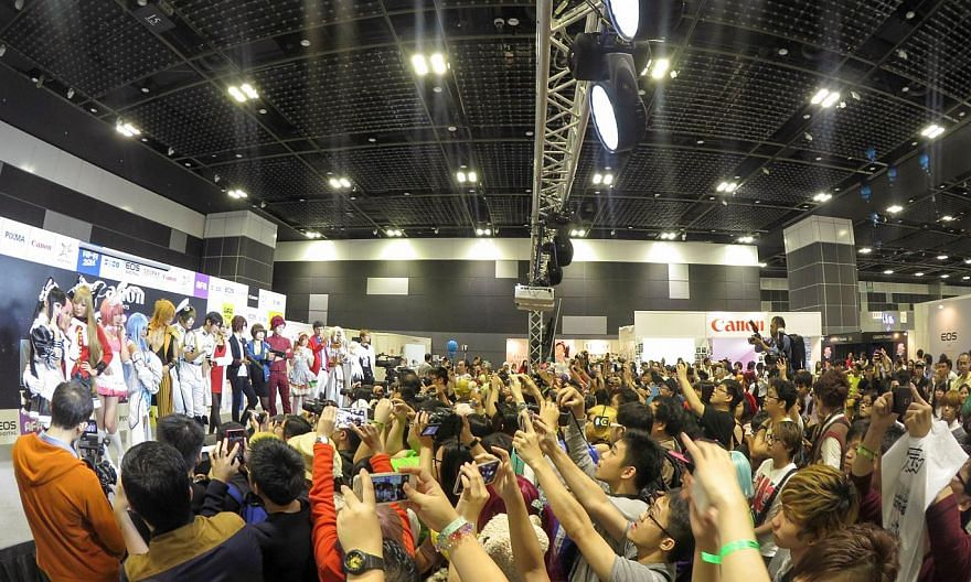 Last year's Anime Festival Asia, one of the most established festivals for Japanese pop culture in the region, at the Suntec Singapore Convention and Exhibition Centre. -- PHOTO: SOZO PTE LTD