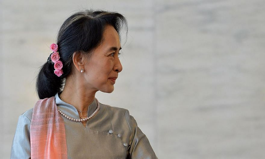 Myanmar's ruling party on Thursday released a draft bill on changes to its junta-era constitution that could end an effective army veto on charter amendments, but still bars opposition leader Aung San Suu Kyi from the presidency. -- PHOTO: AFP