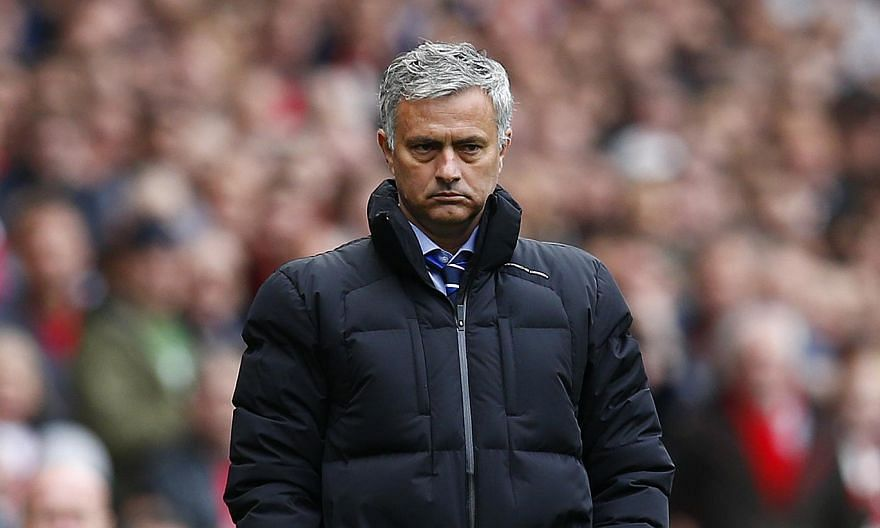 Chelsea manager Jose Mourinho (above) has been banned from driving for six months after he was caught speeding close to the club's training ground. -- PHOTO: REUTERS