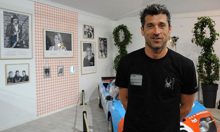 US actor and Porsche 911 driver Patrick Dempsey poses during a press conference before the 83rd Le Mans 24-hour endurance race, on June 12, 2015, in Le Mans, western France. -- PHOTO: AFP