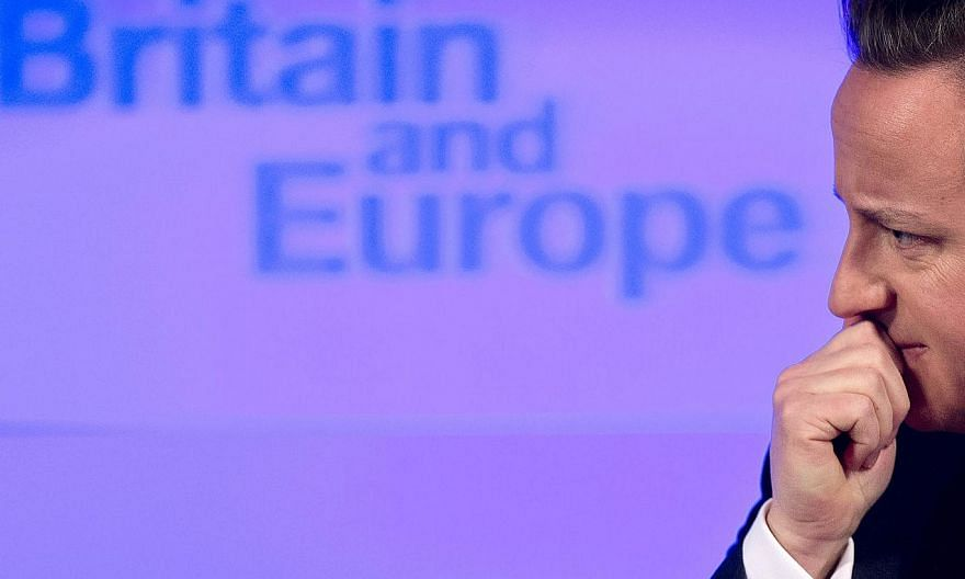 "British Prime Minister David Cameron delivers a speech on ""the future of the European Union and Britain's role within it"", in central London, on Jan 23, 2013. -- PHOTO: AFP"