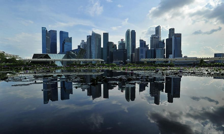 Skyline of the Central Business District (CBD) on June 4, 2015. -- PHOTO: LIM YAOHUI FOR THE STRAITS TIMES